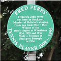 SJ8994 : Fred Perry Tennis Player 1909 - 1995 by Gerald England