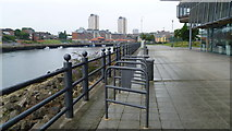 NZ4057 : On the old dockside of the River Wear in Sunderland Harbour by Jeremy Bolwell