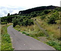 SS8993 : Track and path junction in the Garw Valley, Blaengarw by Jaggery