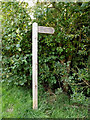 TM1441 : Footpath sign off Ellenbrook Road by Adrian Cable