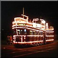 SD3033 : Illuminated Tram at Pleasure Beach by Gerald England