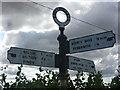 NT5071 : ELCC Fingerposts : West Lodge Junction, Lennoxlove by Richard West
