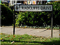 TM1342 : Radcliffe Drive sign by Adrian Cable
