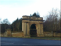NT7233 : Gates at the entrance to Springwood Park by Jonathan Hutchins