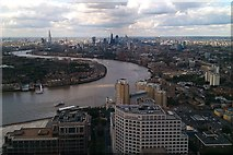 TQ3680 : View of London and the Thames from One Canada Square by David M Jones