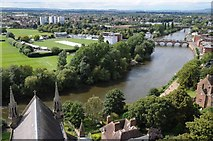 SO8454 : The River Severn viewed from Worcester Cathedral by Philip Halling