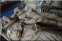 SO5924 : Effigies of John & Mary Rudhale, Ross on Wye church by Julian P Guffogg
