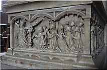 SO5924 : Detail of Willian & Anne Rudhale Monument by Julian P Guffogg