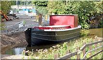 J3369 : Restored Lagan canal barge, Belfast - August 2014(1) by Albert Bridge