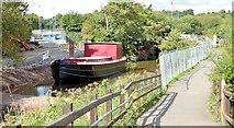 J3369 : Restored Lagan canal barge, Belfast - August 2014(2) by Albert Bridge