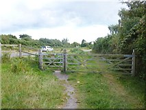 SY8086 : Winfrith Heath, gates by Mike Faherty