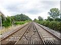 SY8187 : Burton Heath, railway lines by Mike Faherty