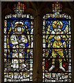 SO7745 : Detail, West Window, Great Malvern Priory by J.Hannan-Briggs