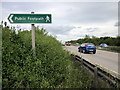 SJ3760 : Footpath to Dodleston from the A483 by Jeff Buck