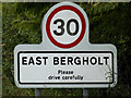 TM0635 : East Bergholt Village Name sign by Adrian Cable