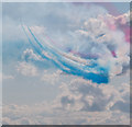 TM1713 : The Red Arrows, Clacton Air Show, Essex by Christine Matthews