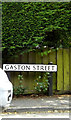 TM0734 : Gaston Street sign by Adrian Cable