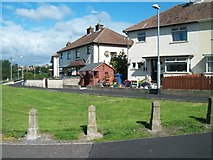 J4944 : Houses at the junction of Ardglass Road and Edward Street, Downpatrick by Eric Jones