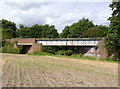 SK6872 : Abandoned railway bridge by Alan Murray-Rust