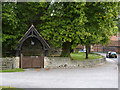 SK7773 : Lych gate and churchyard wall, Darlton by Alan Murray-Rust