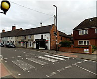 SK4003 : Zebra crossing in Station Road,  Market Bosworth by Jaggery