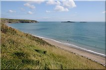 SH1726 : The coast at Aberdaron by Philip Halling