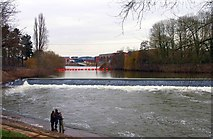 SO8453 : Weir on the River Severn, Worcester by P L Chadwick
