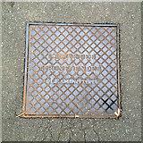 SP3165 : Cast iron inspection cover, Pump Room Gardens, Royal Leamington Spa by Robin Stott