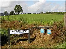 H6156 : Road sign, Feddan Road by Kenneth  Allen