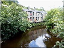 SD9726 : Riverside housing at Charlestown by Graham Hogg