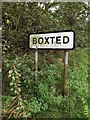 TM0033 : Boxted Village Name sign by Geographer
