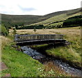 SS9093 : Wooden footbridge over a stream east of David Street, Blaengarw by Jaggery