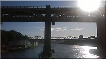 NZ2563 : Newcastle: High Level Bridge from the Swing Bridge, afternoon light by Christopher Hilton