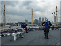 TQ3980 : Viewing Platform, O2 Arena, Greenwich by Christine Matthews
