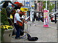 H4572 : Busking, Omagh by Kenneth  Allen