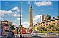 TQ1878 : Kew Bridge Road and Standpipe Tower at London Museum of Water and Steam by Ben Brooksbank