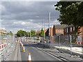 SK5638 : Meadows Way at Meadows West tram stop by Alan Murray-Rust
