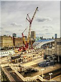 SJ8499 : Construction Work at Manchester Victoria (August 2014) by David Dixon