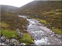 NN9193 : Allt Luineag shortly before becoming River Eidart, Glenfeshie by ian shiell