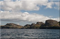 NR2171 : Sanaig Rocks viewed from the sea by Becky Williamson