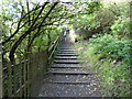 SE0053 : Embsay:  Steps up to Millholme Rise by Dr Neil Clifton