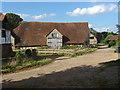 TQ0246 : Barn, Great Tangley Manor Farm by Alan Hunt