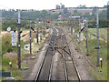 SK7277 : East Coast Main Line looking north from Eaton Lane bridge by Alan Murray-Rust