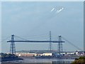 ST3186 : RAF Red Arrows over Newport Transporter Bridge by Robin Drayton