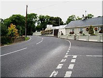 H9618 : The B30 at its junction with Carrive Road at Silverbridge by Eric Jones