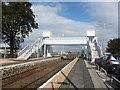 NJ8812 : Footbridge, Dyce Station by Bill Harrison