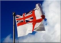 TQ7569 : Destroyer Memorial White Ensign HMS Cavalier Chatham Dockyard by Peter Skynner