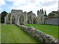 TF8539 : The ruins of Creake Abbey, Norfolk by Richard Humphrey