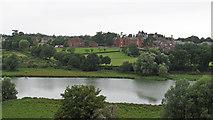 TM2863 : View from Framlingham Castle: The Mere and Framlingham College by Roger Jones