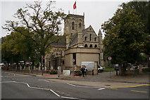 TA2609 : Grimsby Minster from Bethlehem Street, Grimsby by Ian S